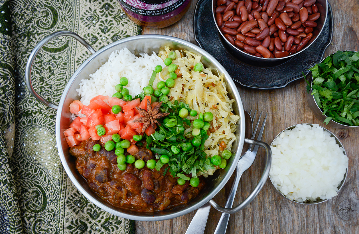 Buddah Bowl | Tiffinday's Kidney Bean & Rhubarb Curry Stew
